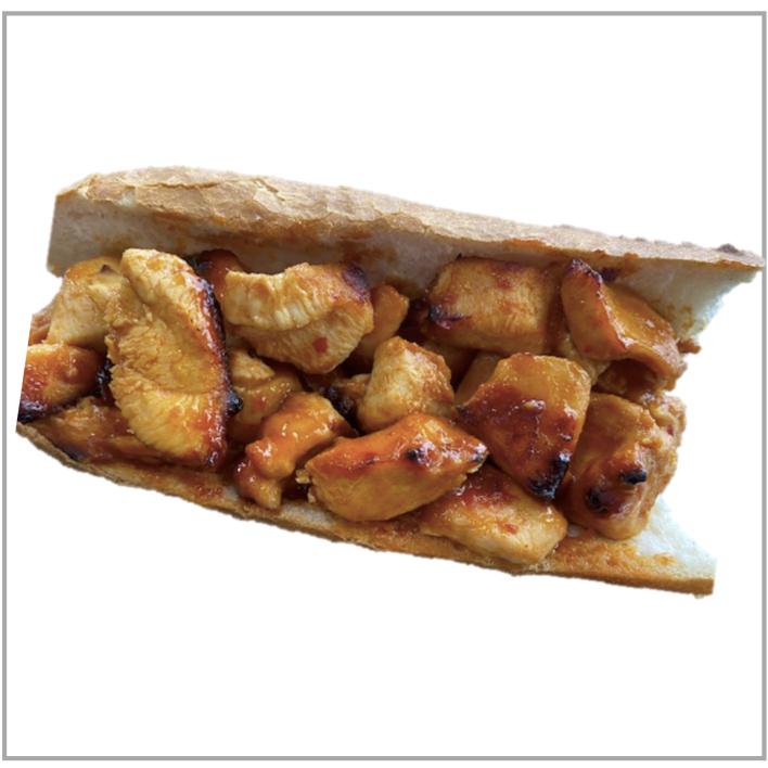 Pikante kip met Brood